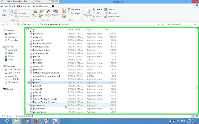 how to record every movement done in windows 8