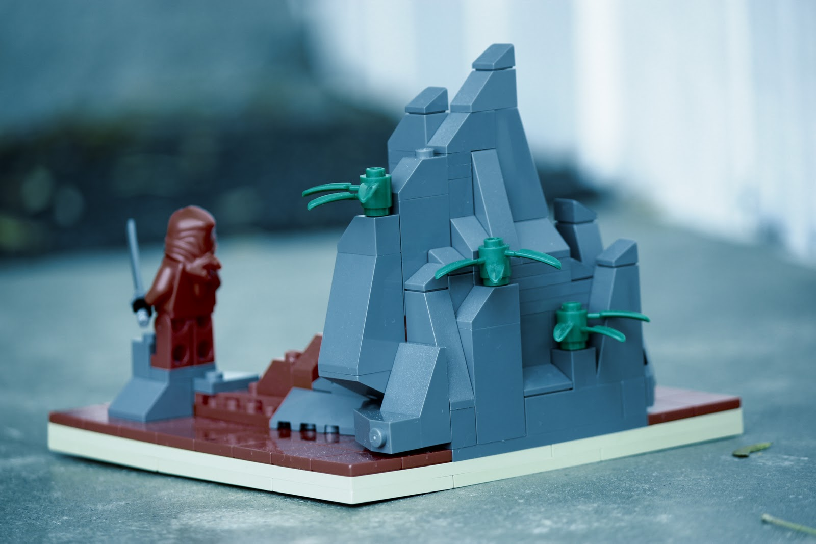 how to build a mountain lego