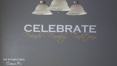 celebrate wall decal