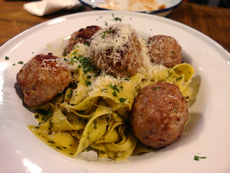 Club Meatballs Restaurant Review Iberico Pork and fennel with salsa verde & fresh papardelle Lunarrive Blog