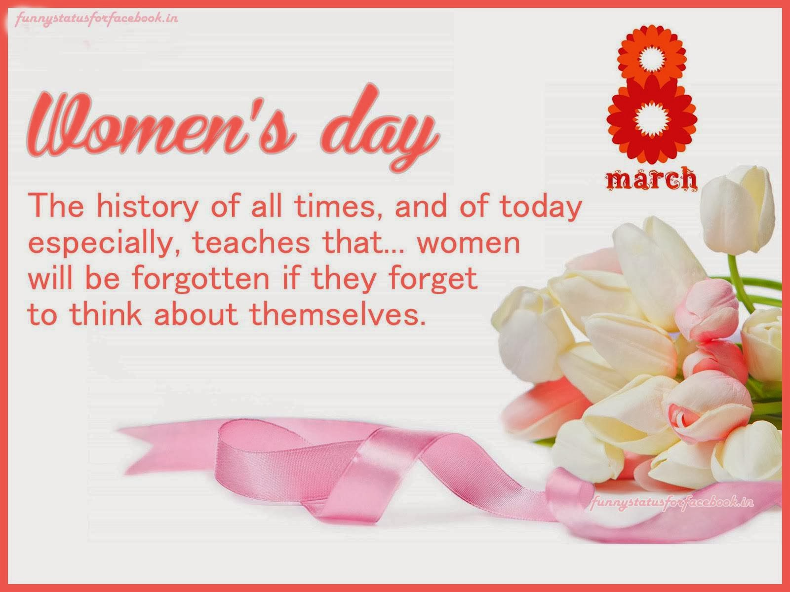 Happy International Women's Day Wishes and Greetings Message Card Image SMS Photo