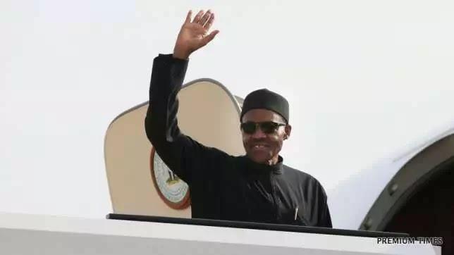 Nigeria President Buhari Leaves USA