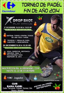 INSCRIPCIONES TORNEO AÑO NUEVO DROP SHOT / CARREFOUR