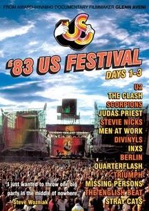 US Festival 1983 Days 1-3, DVD con Scorpions, Judas Priest, Triumph y U2