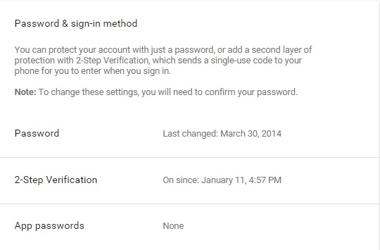 gmail 2steps verification