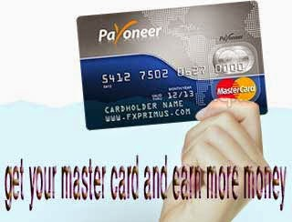get your master card its free