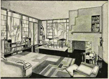 Art deco resource art deco and moderne home design a dangerous new trend paul t haagen - Deco eetkamer oud ...