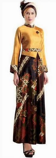 Model baju kebaya muslim wisuda batik modis