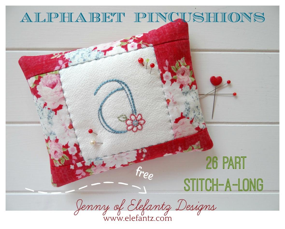 SAL Alphabet Pincushions - Jenny of Elefantz