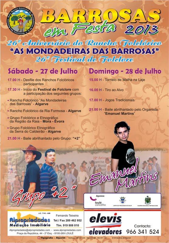 "26º aniversário do Rancho Folclórico ""As Mondadeiras das Barrosas"" - Festival de Folclore"