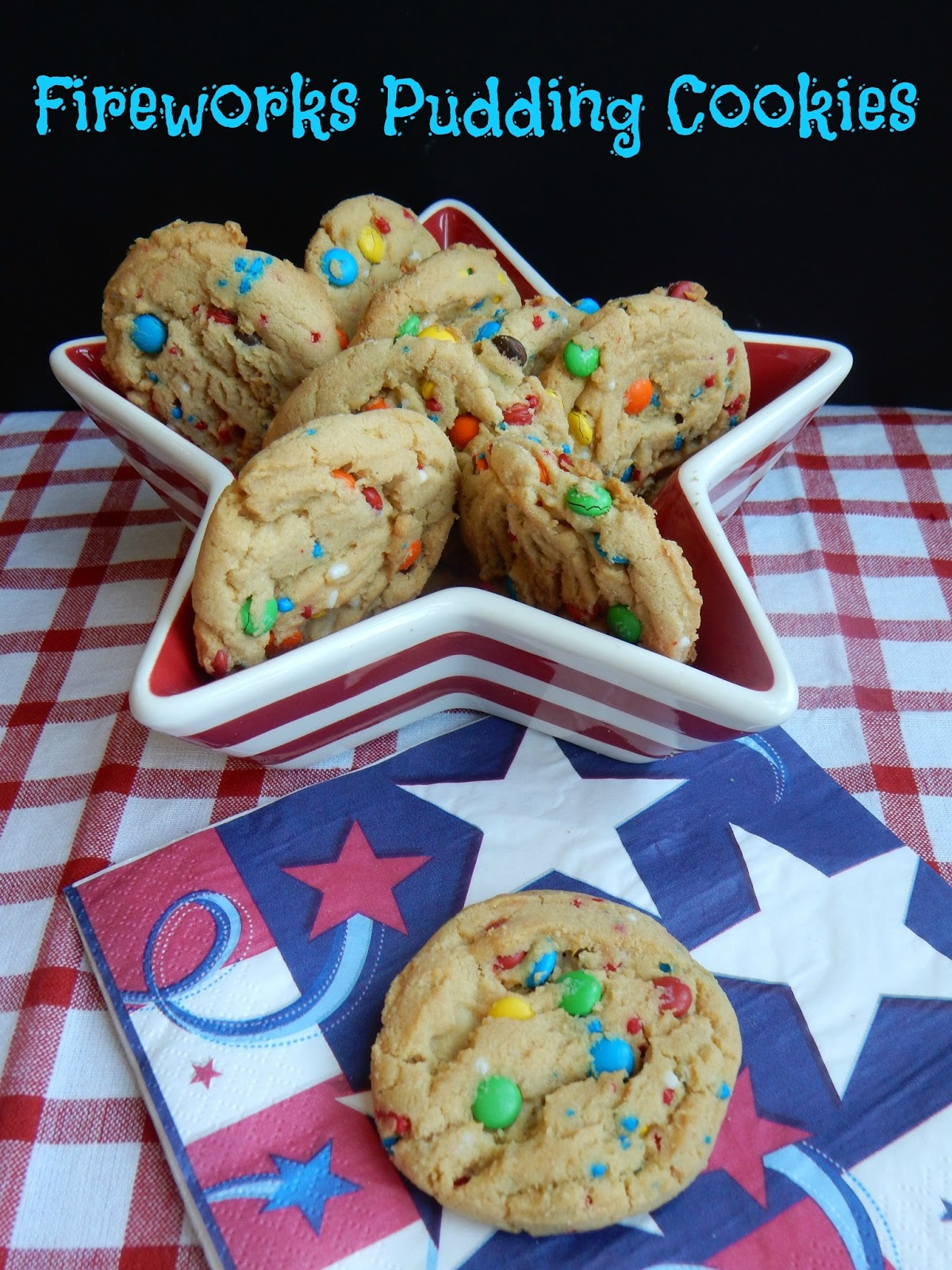 the recipe for fireworks cookies called for red white and blue m ms i ...