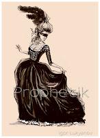 moda para la mujer en el siglo XIX, vestido con corsé
