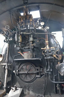 Inside of the cab of the Kingston Flyer