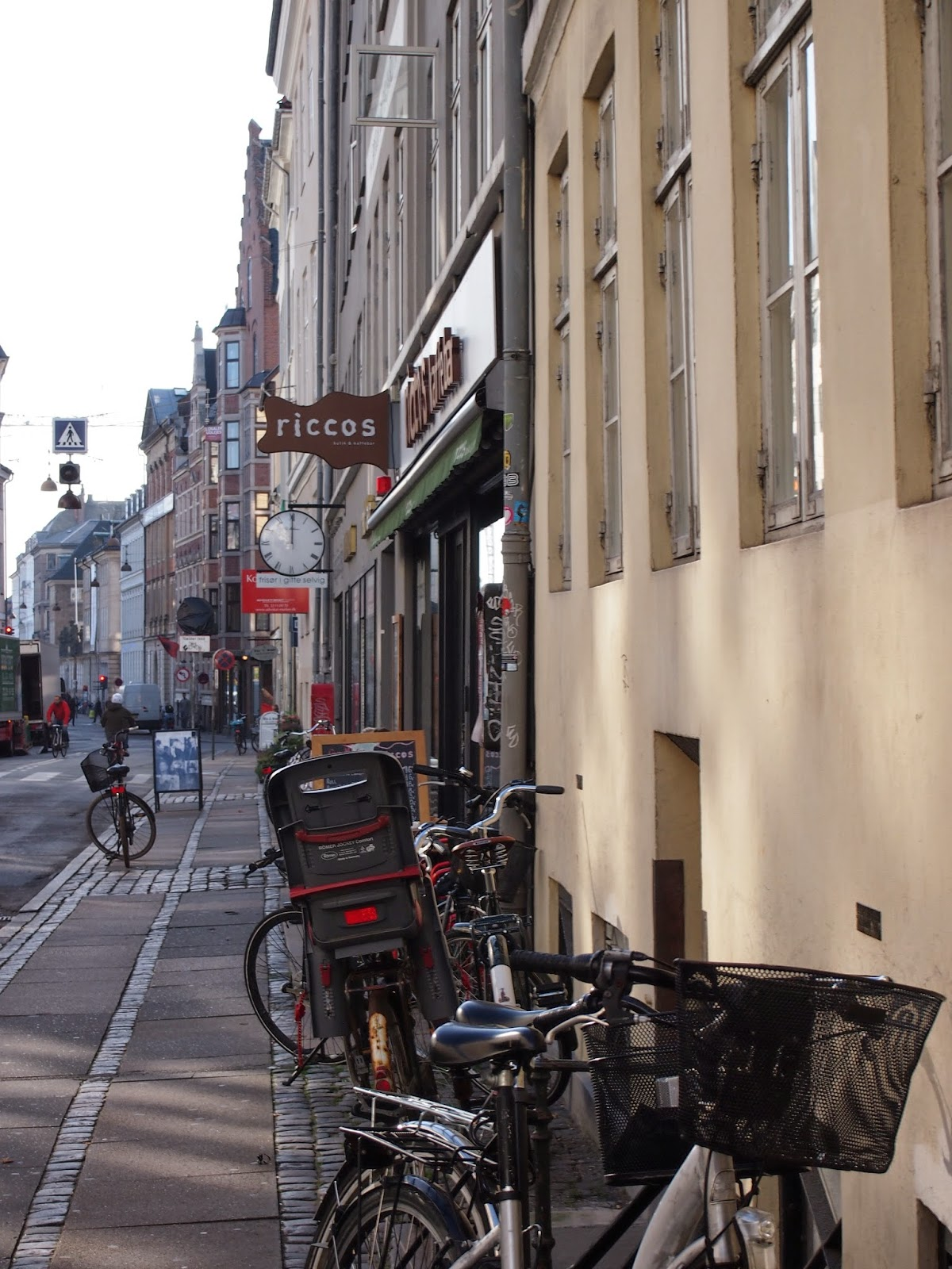Ricco's cafe in Copenhagen on Radhusstraede