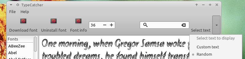 Toolbar TypeCatcher