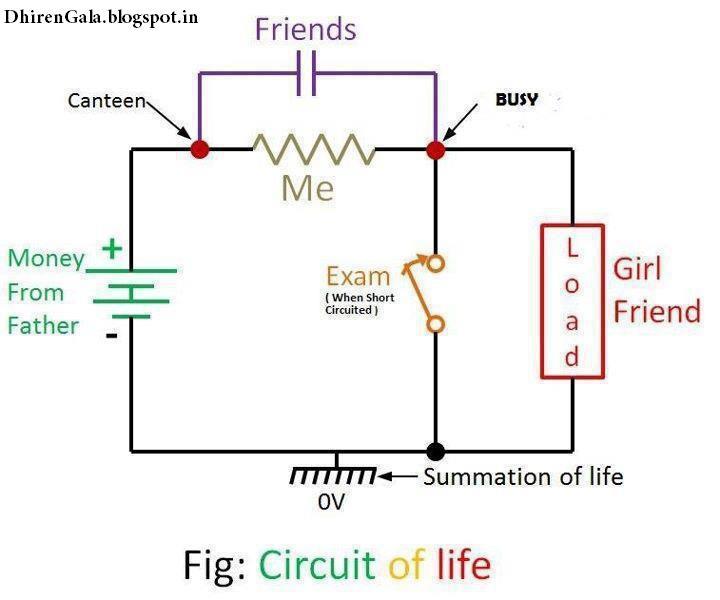 dhiren gala physics circuit diagram showing circuit of