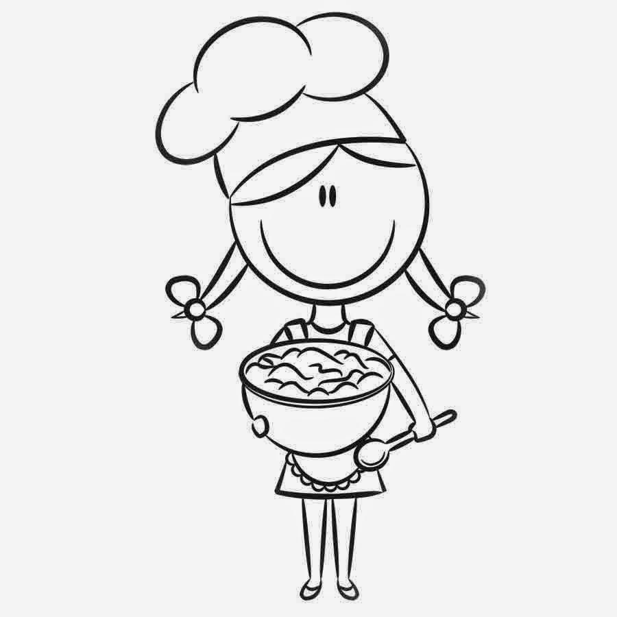 Juegos Sara: Dibujos para colorear sobre la cocina y cocineros