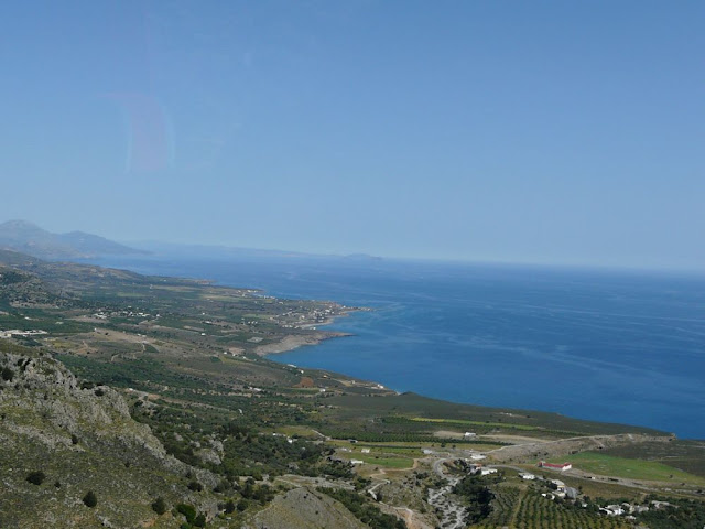 Kreta - widok na wyspę i morze
