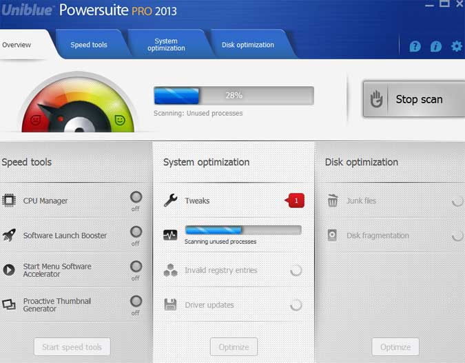 Uniblue Powersuite Pro 2013 v4.1.1.5 Full Incl Serial