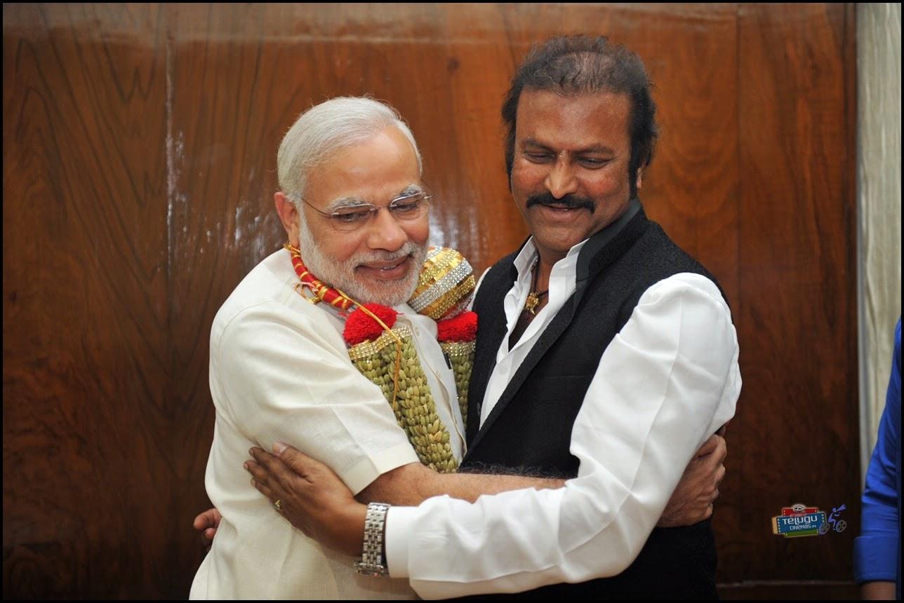 Manchu Mohan Babu with Modi
