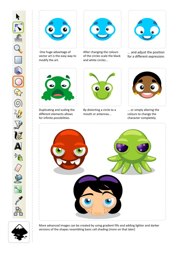 Inkscape Character Design Tutorial : Let s get started with circles d game art for programmers