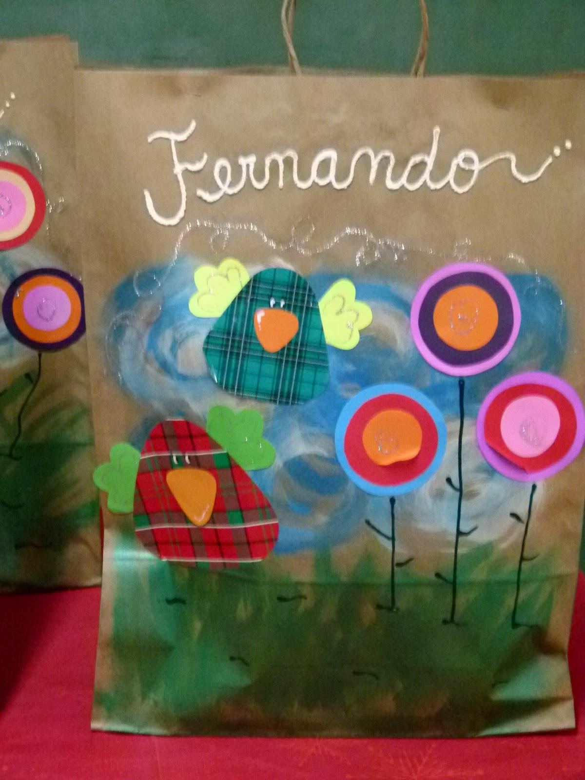 Mis proyectos bolsas decoradas para las carpetas de fin for Asistenciero para jardin de infantes