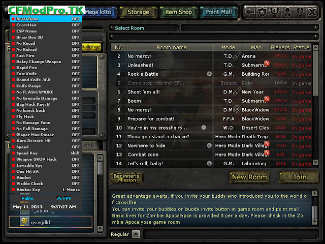CF Cheat Pro - Cheat, hack crossfire - CFCheatPro.blogspot.com