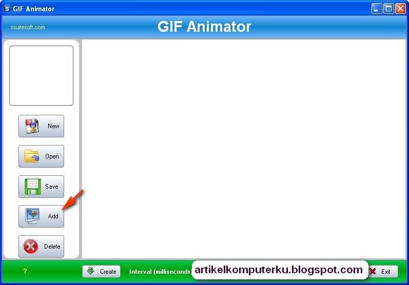 Membuat animasi gif menggunakan software gif creator