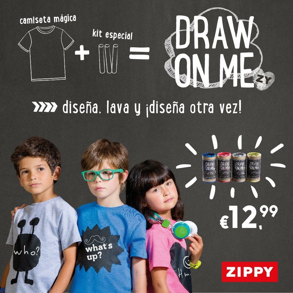 Zippy Draw on me camiseta mágica