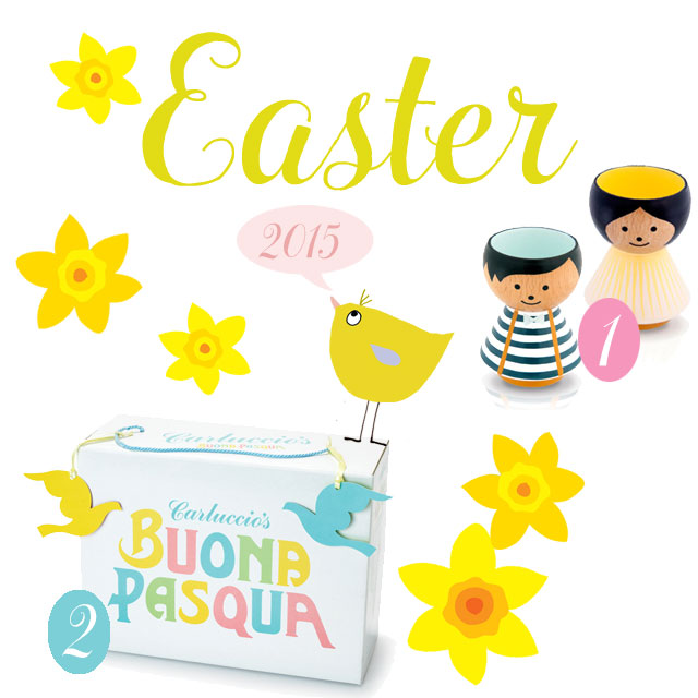 egg cups, Lucie Kaas, Easter 2015, Easter treats, chocolate, biscuits, Carluccio,Liz and Pip