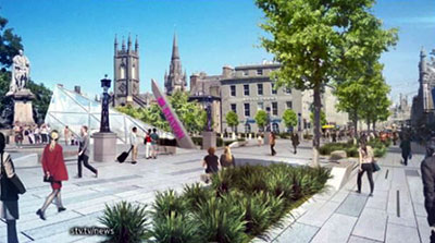 The new plans for Union Terrace Gardens prepared by John Halliday