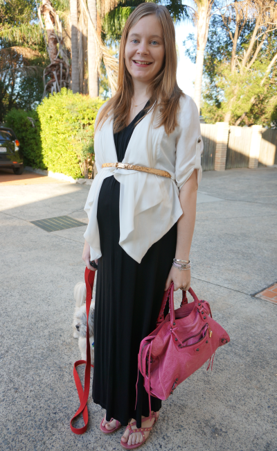 balenciaga sorbet city studded sandals black french connection jersey maxi dress 3rd trimester pregnancy