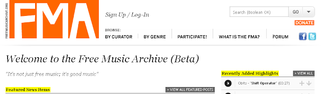 FMA - Free Music Archive - non solo musica, ma buona musica