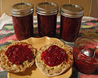 Jars of Jam and English Muffin spread with Jam from Open Jar