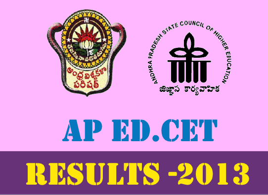 AP EDCET 2013 Results with Rank Card Download at www.apedcet.org