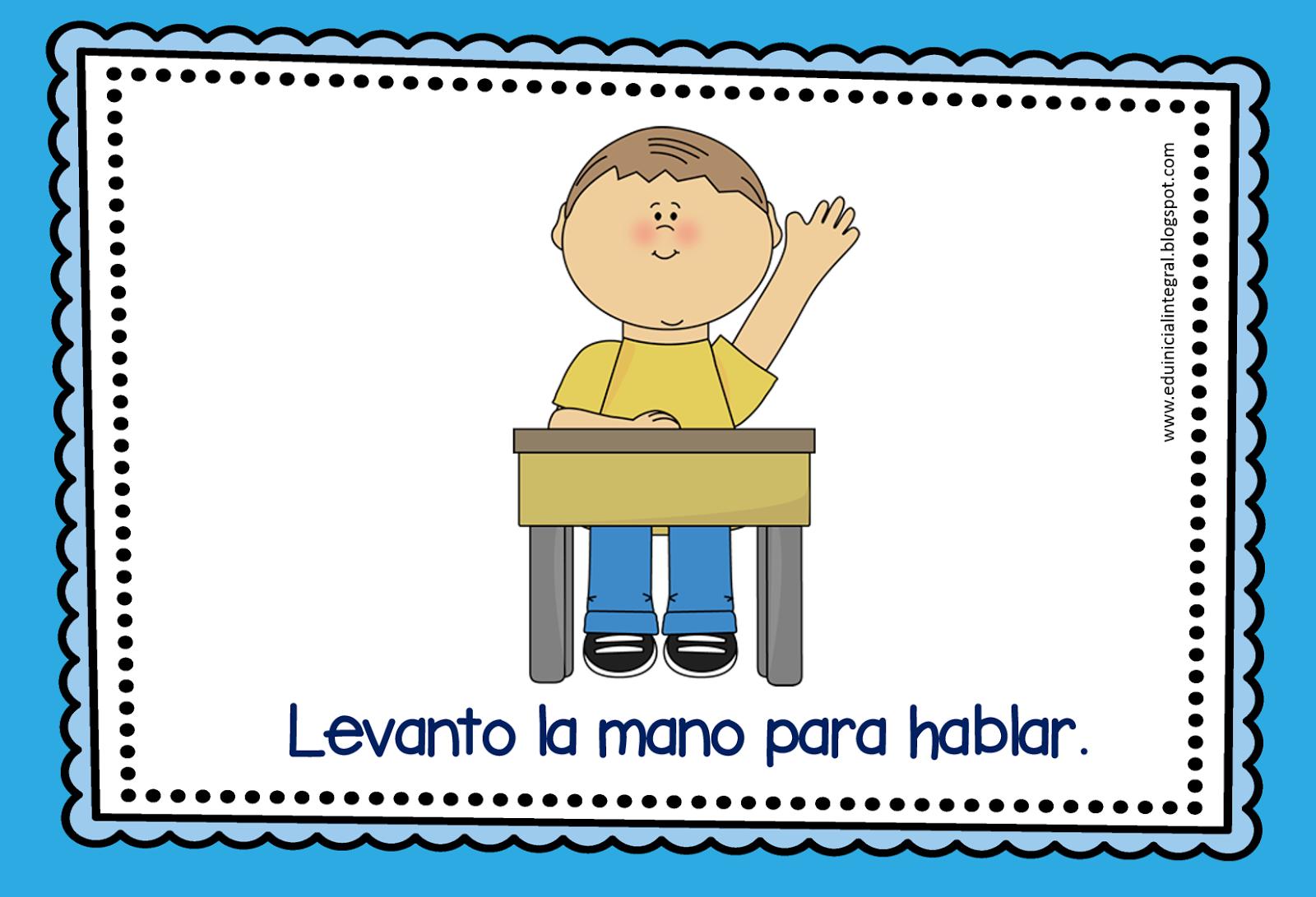 Educaci n inicial para todos normas de convivencia for 10 reglas para el salon de clases en ingles