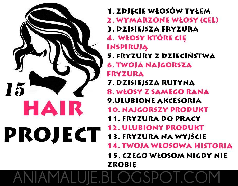 WYZWANIE/TAG : 15 HAIR PROJECT