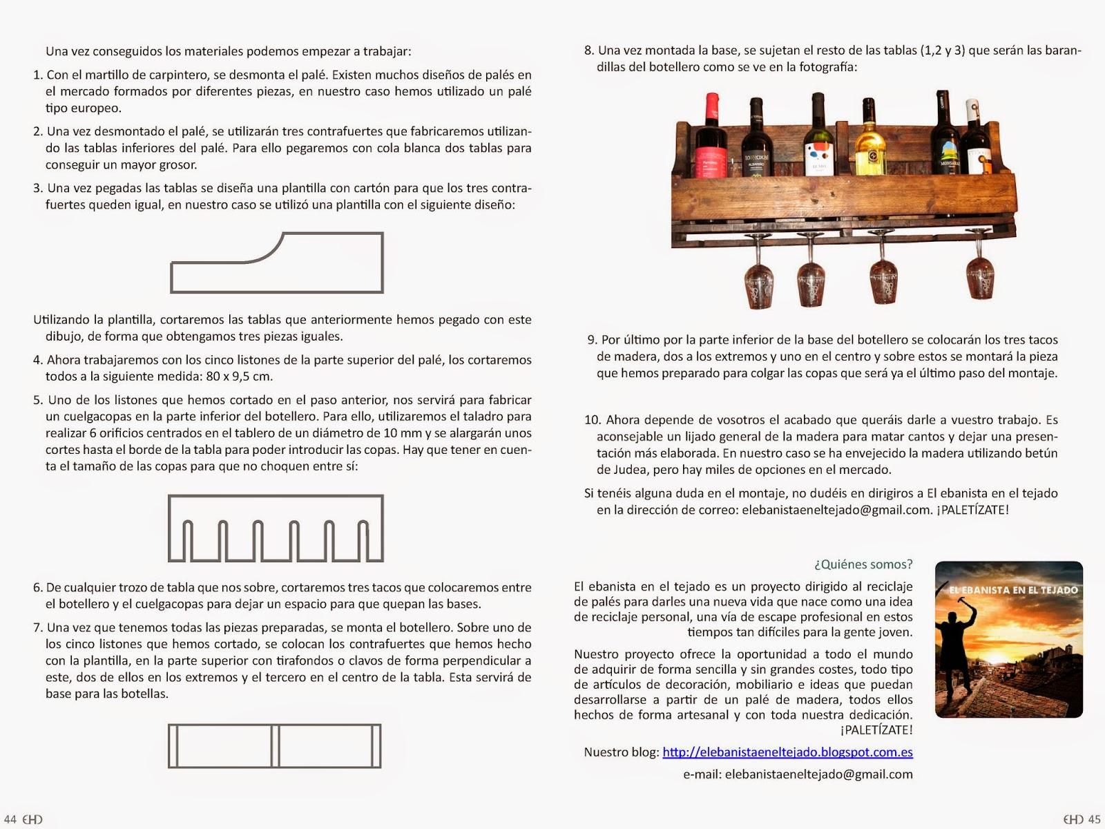 Hazlo t mism aprende a hacer un botellero con pal s por adri n campillo ehd magazine - Reciclaje de pales ...