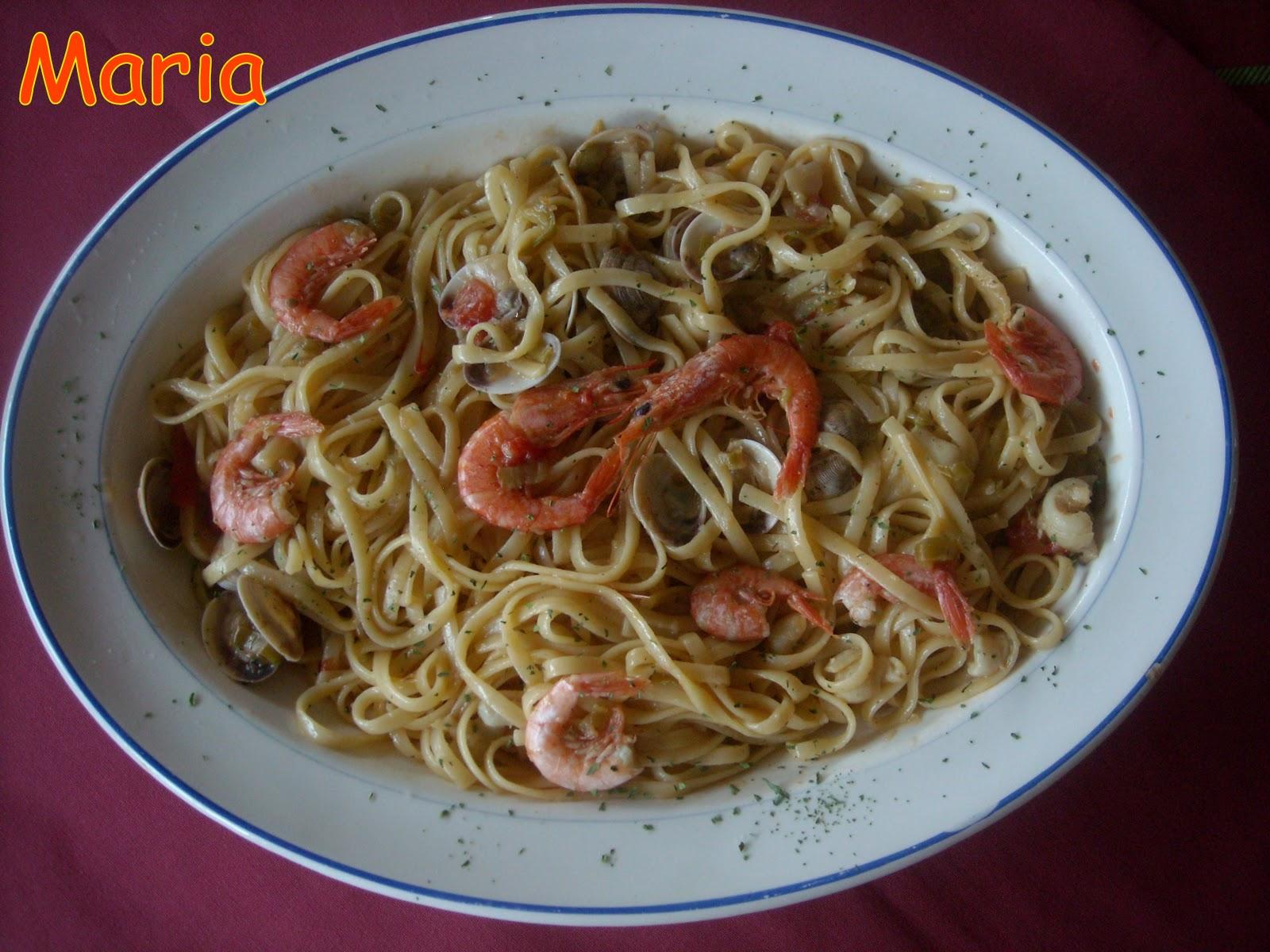 En la cocina espaguettis con chirlas y gambas - Espaguetis con chirlas ...