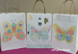 DIY Color Your Own Gift Bags Butterfly Goody