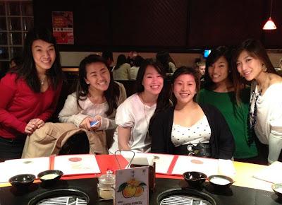 Sylvia Yun, Karen Nga, Megan Li, Joanna Chin, Jen Lee, Amy Zhou at Shabuway