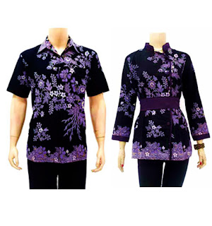 Foto Baju Batik Couple Panjang