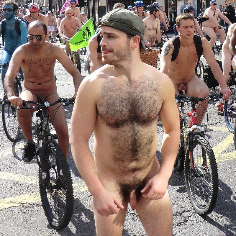 male nude on motorbike