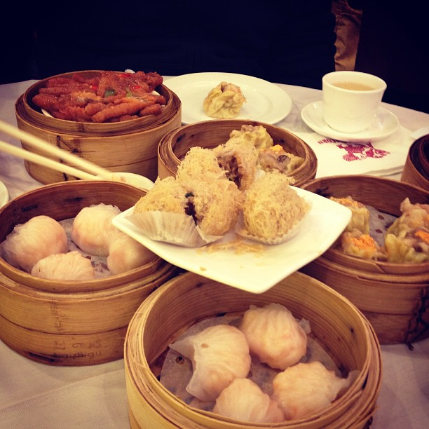 Dimsum at Ping's in Chinatown, New York