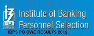 ibps po results 2012