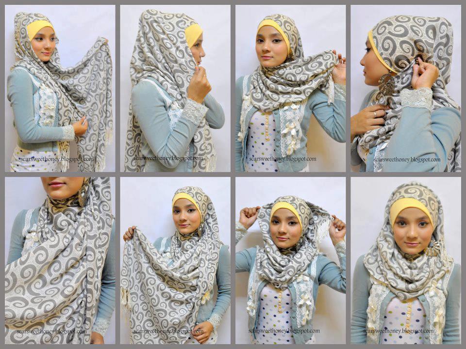 بالصور لف الحجاب بطرق سهلة وبسيطة وبأشكال مختلفة بدون جهد 2015