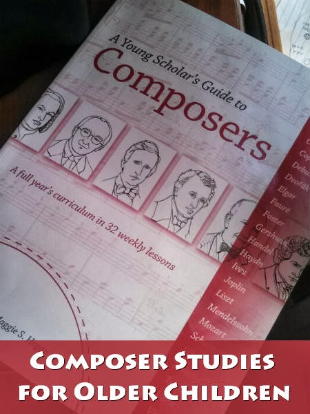 How to conduct composer studies with the 8 - 13 year old homeschool student.