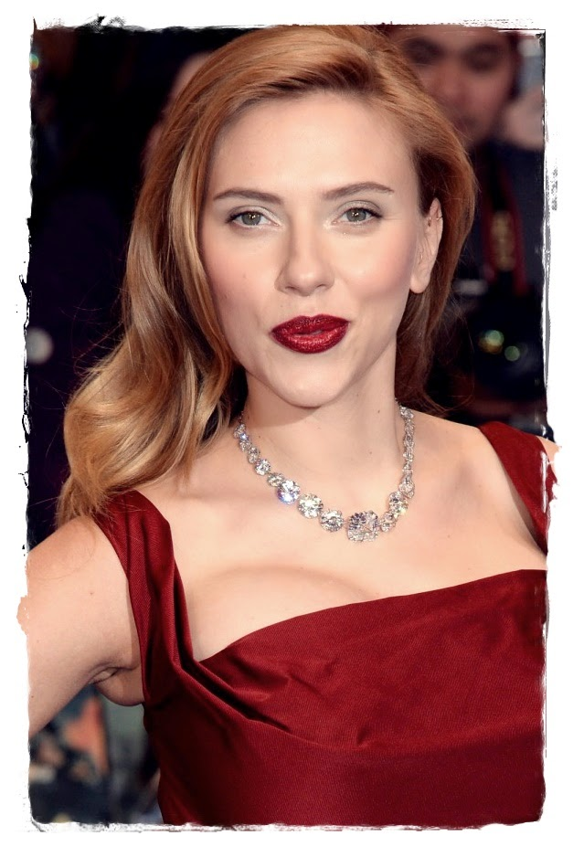 Scarlett Johansson With Glossy Copper Waves
