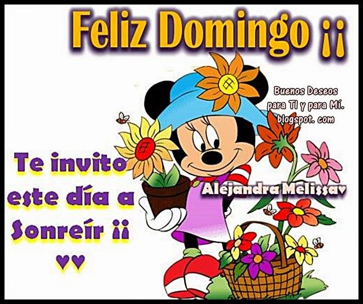 FELIZ DOMINGO !!! Te invito este día a sonreír !!!