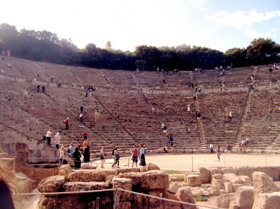 Photo of the ancient theater of Epidaurus, Greece by funeralgames